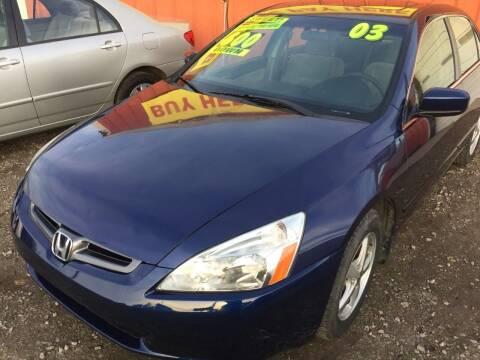 2003 Honda Accord for sale at McAllister's Auto Sales LLC in Van Buren AR