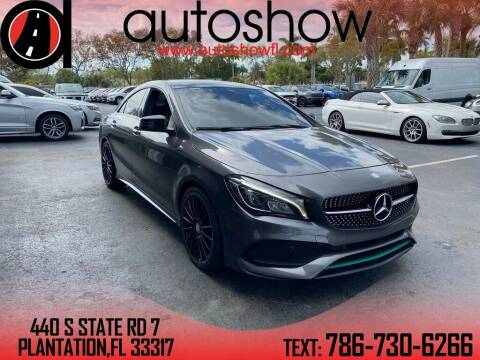 2017 Mercedes-Benz CLA for sale at AUTOSHOW SALES & SERVICE in Plantation FL