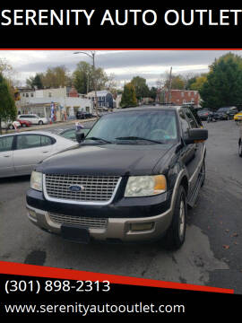 2003 Ford Expedition for sale at SERENITY AUTO OUTLET in Frederick MD