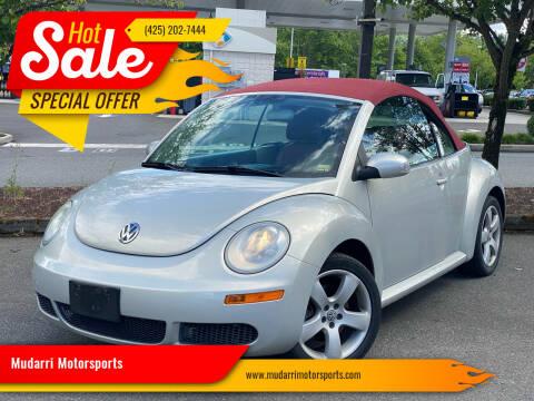 2009 Volkswagen New Beetle Convertible for sale at Mudarri Motorsports in Kirkland WA