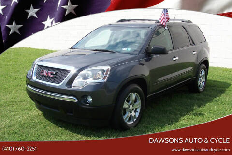 2012 GMC Acadia for sale at Dawsons Auto & Cycle in Glen Burnie MD