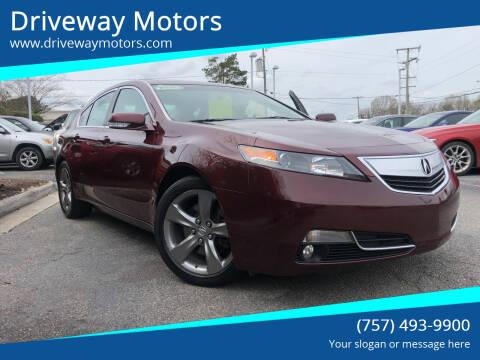 2014 Acura TL for sale at Driveway Motors in Virginia Beach VA