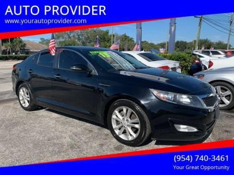 2013 Kia Optima for sale at AUTO PROVIDER in Fort Lauderdale FL