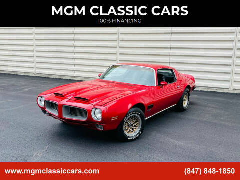 1971 Pontiac Firebird for sale at MGM CLASSIC CARS in Addison IL