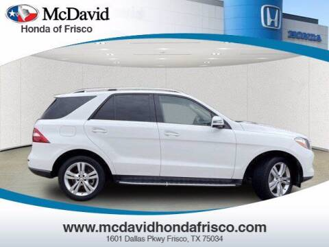 2015 Mercedes-Benz M-Class for sale at DAVID McDAVID HONDA OF IRVING in Irving TX