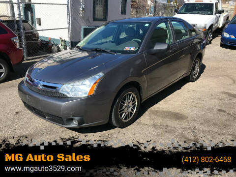 2010 Ford Focus for sale at MG Auto Sales in Pittsburgh PA