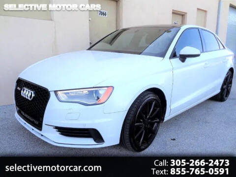 2016 Audi A3 for sale at Selective Motor Cars in Miami FL