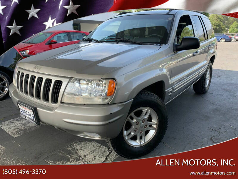 2000 Jeep Grand Cherokee for sale at Allen Motors, Inc. in Thousand Oaks CA