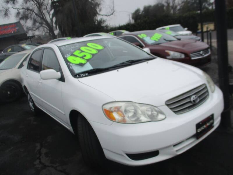 2003 Toyota Corolla for sale at Quick Auto Sales in Modesto CA