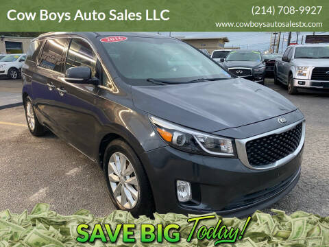 2016 Kia Sedona for sale at Cow Boys Auto Sales LLC in Garland TX