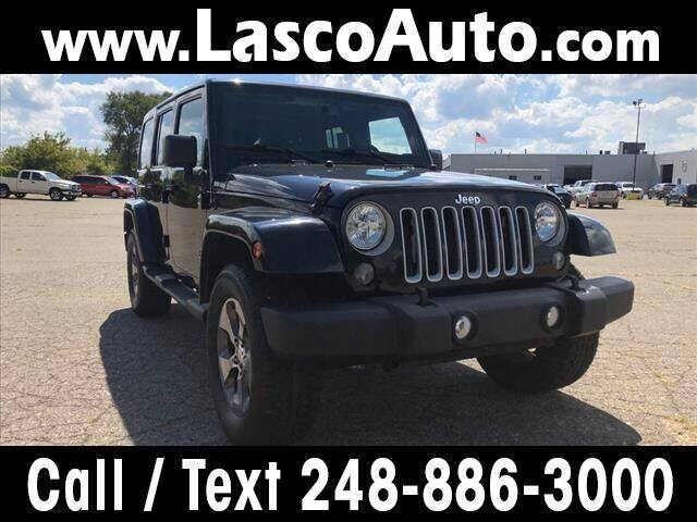 2016 Jeep Wrangler Unlimited for sale at Lasco of Waterford in Waterford MI