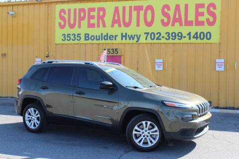 2015 Jeep Cherokee for sale at Super Auto Sales in Las Vegas NV