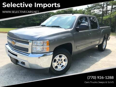 2013 Chevrolet Silverado 1500 for sale at Selective Imports in Woodstock GA