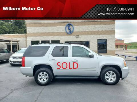 2011 GMC Yukon for sale at Wilborn Motor Co in Fort Worth TX