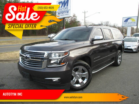 2016 Chevrolet Suburban for sale at AUTOTYM INC in Fredericksburg VA