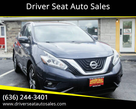 2015 Nissan Murano for sale at Driver Seat Auto Sales in Saint Charles MO
