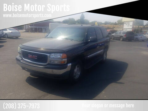 2004 GMC Yukon for sale at Boise Motor Sports in Boise ID