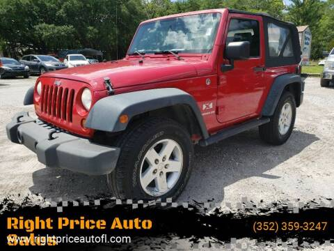 2008 Jeep Wrangler for sale at Right Price Auto Sales in Waldo FL