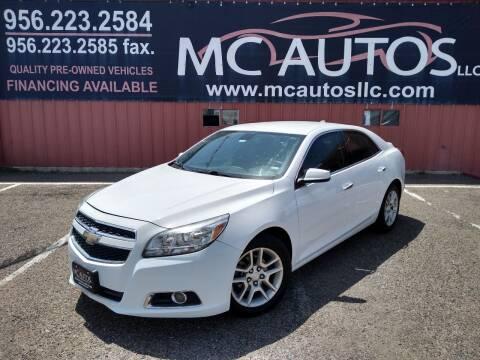 2013 Chevrolet Malibu for sale at MC Autos LLC in Pharr TX