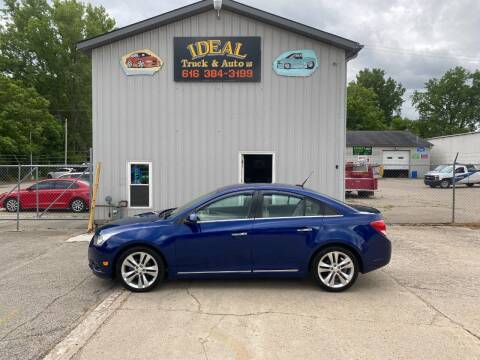 2013 Chevrolet Cruze for sale at IDEAL TRUCK & AUTO LLC in Coopersville MI