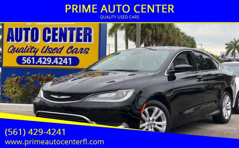 2015 Chrysler 200 for sale at PRIME AUTO CENTER in Palm Springs FL