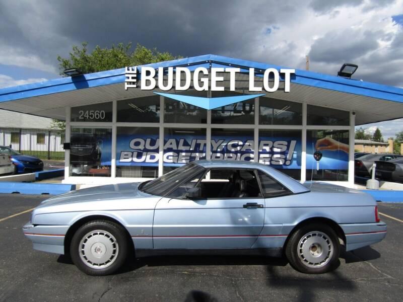 1989 Cadillac Allante for sale at THE BUDGET LOT in Detroit MI
