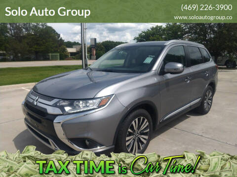 2019 Mitsubishi Outlander for sale at Solo Auto Group in Mckinney TX