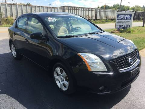 2008 Nissan Sentra for sale at SIMPSON MOTORS in Youngstown OH