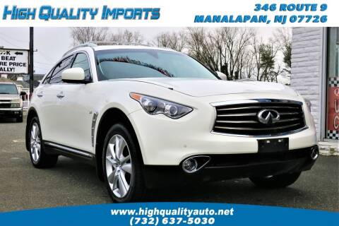 2014 Infiniti QX70 for sale at High Quality Imports in Manalapan NJ