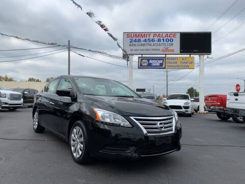 2015 Nissan Sentra for sale at Summit Palace Auto in Waterford MI