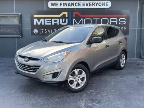 2010 Hyundai Tucson for sale at Meru Motors in Hollywood FL