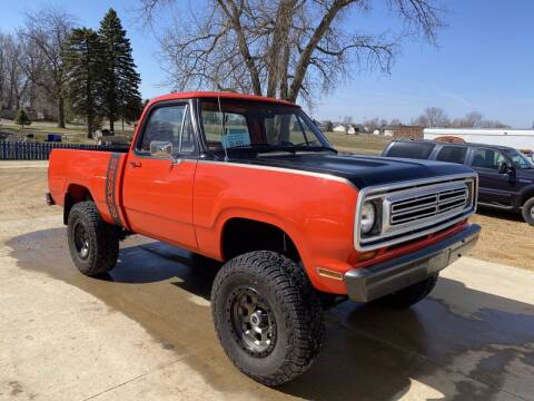 1973 Dodge D100 Pickup for sale at B & B Auto Sales in Brookings SD