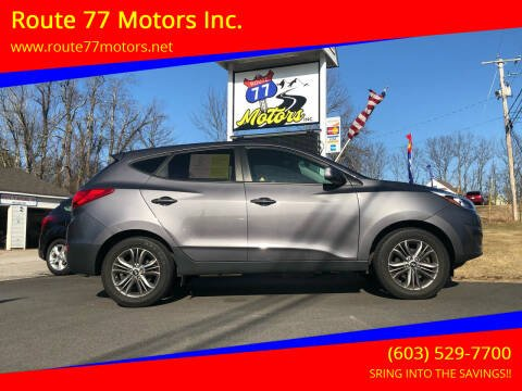 2015 Hyundai Tucson for sale at Route 77 Motors Inc. in Weare NH