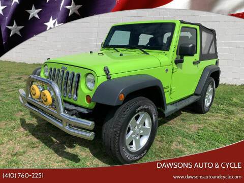 2012 Jeep Wrangler for sale at Dawsons Auto & Cycle in Glen Burnie MD