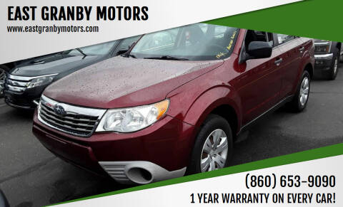 2009 Subaru Forester for sale at EAST GRANBY MOTORS in East Granby CT