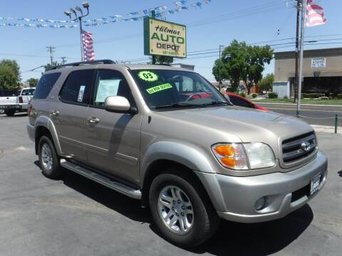 2003 Toyota Sequoia for sale at HILMAR AUTO DEPOT INC. in Hilmar CA