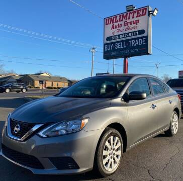 2016 Nissan Sentra for sale at Unlimited Auto Group in West Chester OH
