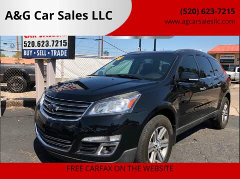 2016 Chevrolet Traverse for sale at A&G Car Sales  LLC in Tucson AZ
