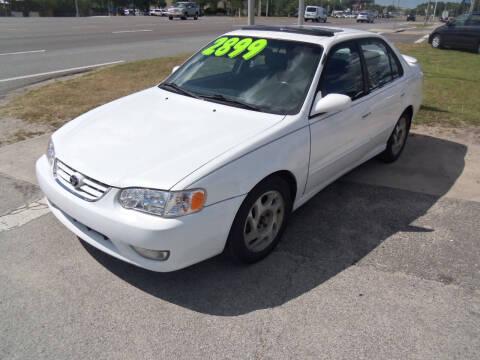 2001 Toyota Corolla for sale at ORANGE PARK AUTO in Jacksonville FL