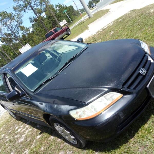 2002 Honda Accord for sale at MOTOR VEHICLE MARKETING INC in Hollister FL
