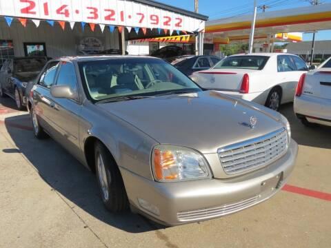 2002 Cadillac DeVille for sale at East Dallas Automotive in Dallas TX