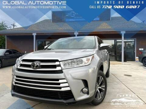 2017 Toyota Highlander for sale at Global Automotive Imports in Denver CO