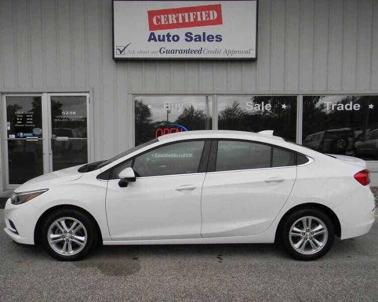 2017 Chevrolet Cruze for sale at Certified Auto Sales in Des Moines IA