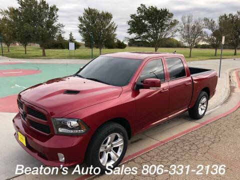 2013 RAM Ram Pickup 1500 for sale at Beaton's Auto Sales in Amarillo TX