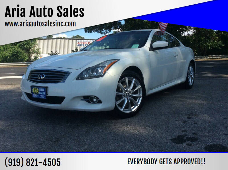 2012 Infiniti G37 Coupe for sale at ARIA AUTO SALES in Raleigh NC