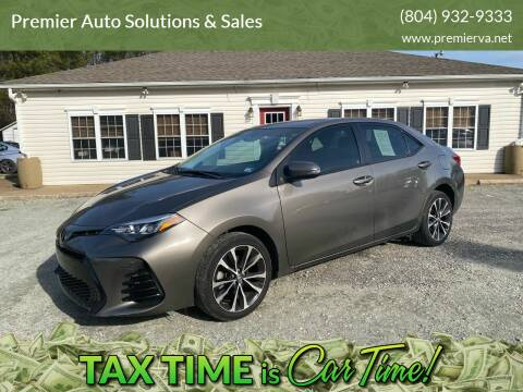 2017 Toyota Corolla for sale at Premier Auto Solutions & Sales in Quinton VA