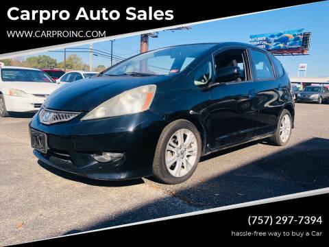 2009 Honda Fit for sale at Carpro Auto Sales in Chesapeake VA