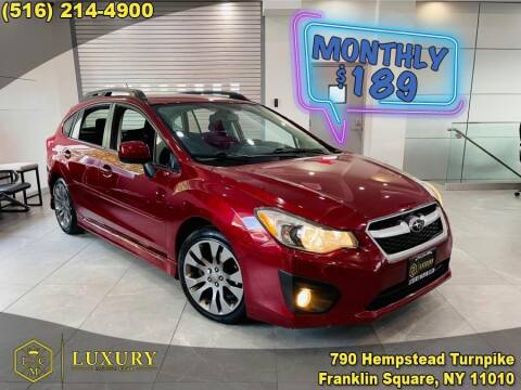 2014 Subaru Impreza for sale at LUXURY MOTOR CLUB in Franklin Square NY