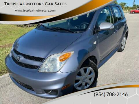 2006 Scion xA for sale at Tropical Motors Car Sales in Deerfield Beach FL