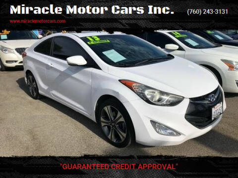 2013 Hyundai Elantra Coupe for sale at Miracle Motor Cars Inc. in Victorville CA
